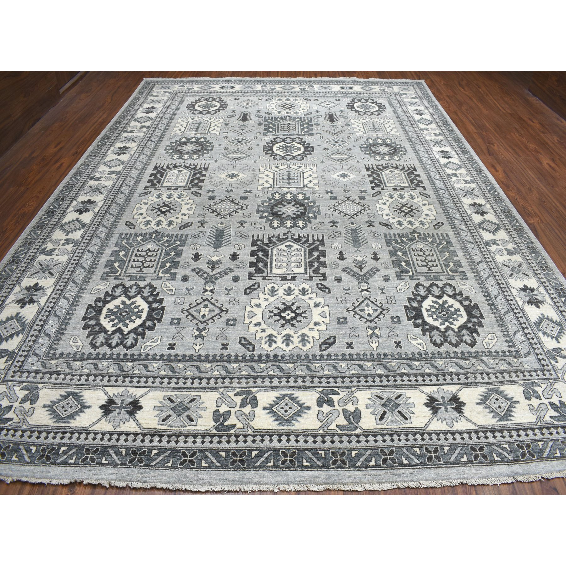 Agra And Turkish Collection Hand Knotted Grey 01102490 Rug