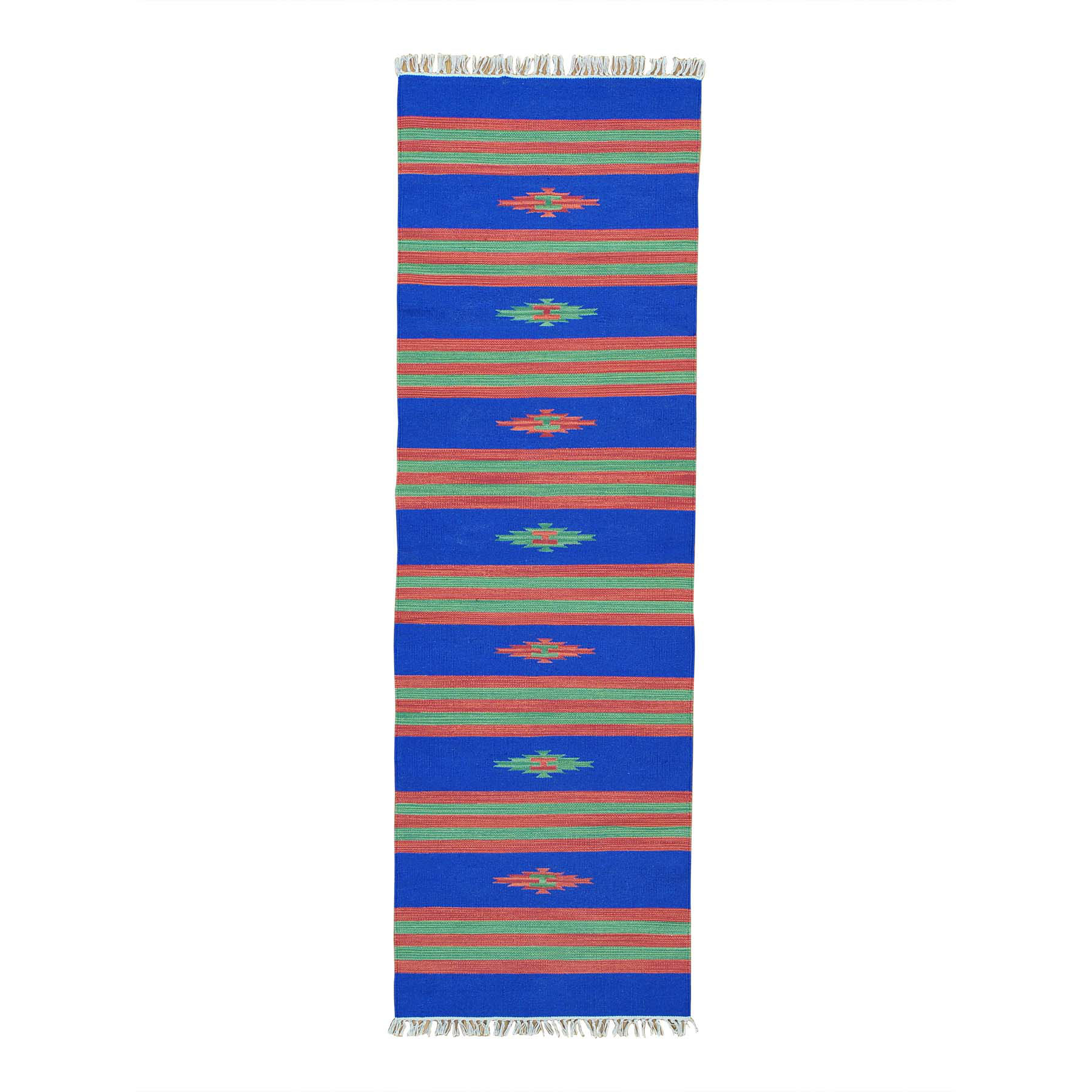 Fine Kilim Collection Hand Woven Blue Rug No: 0152302