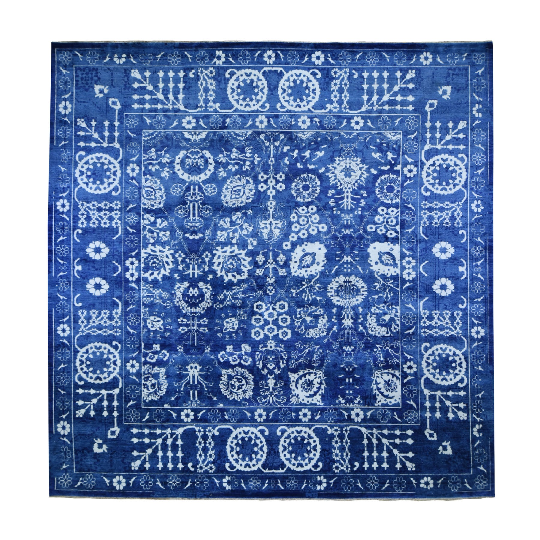 Transitional Hand Knotted Blue Rug No: 0194432