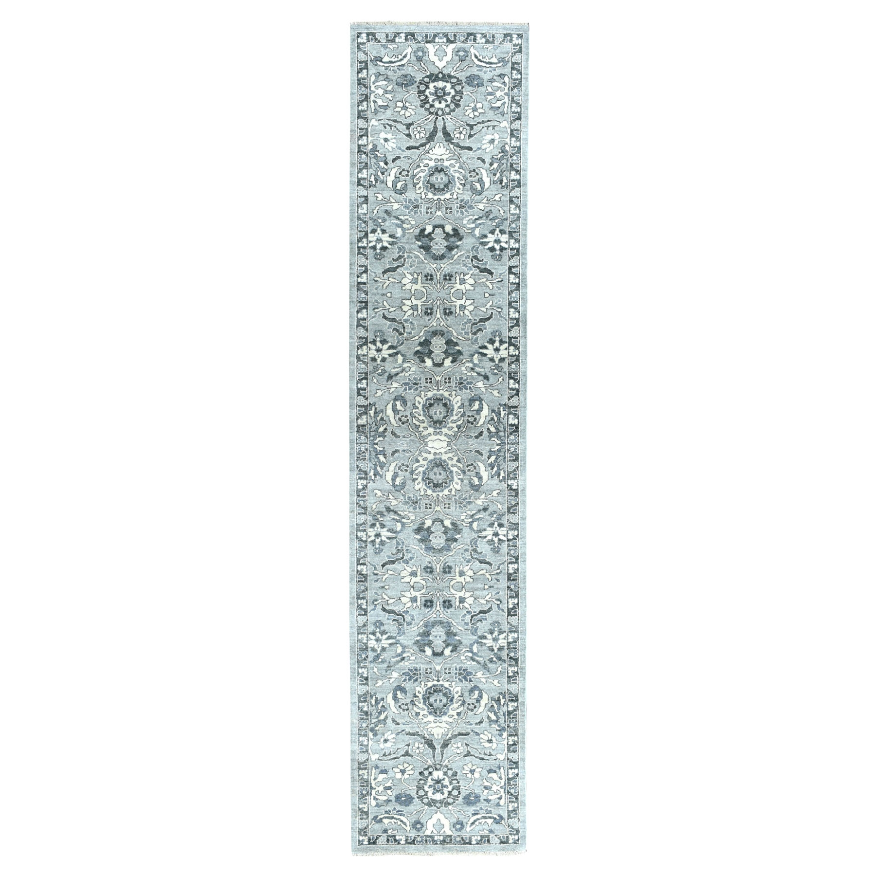 Agra And Turkish Collection Hand Knotted Grey 01102910 Rug