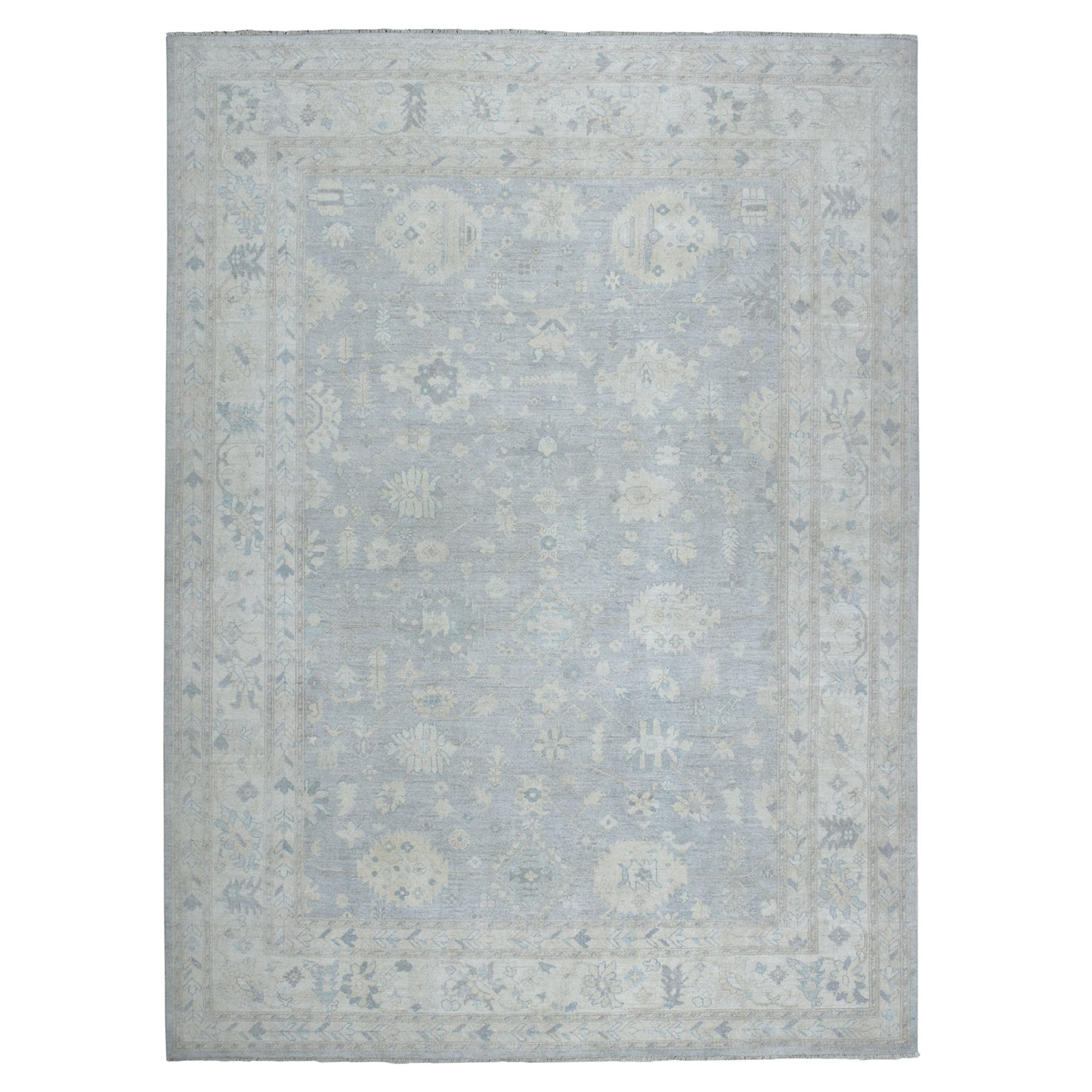 Agra And Turkish Collection Hand Knotted Grey 01102998 Rug