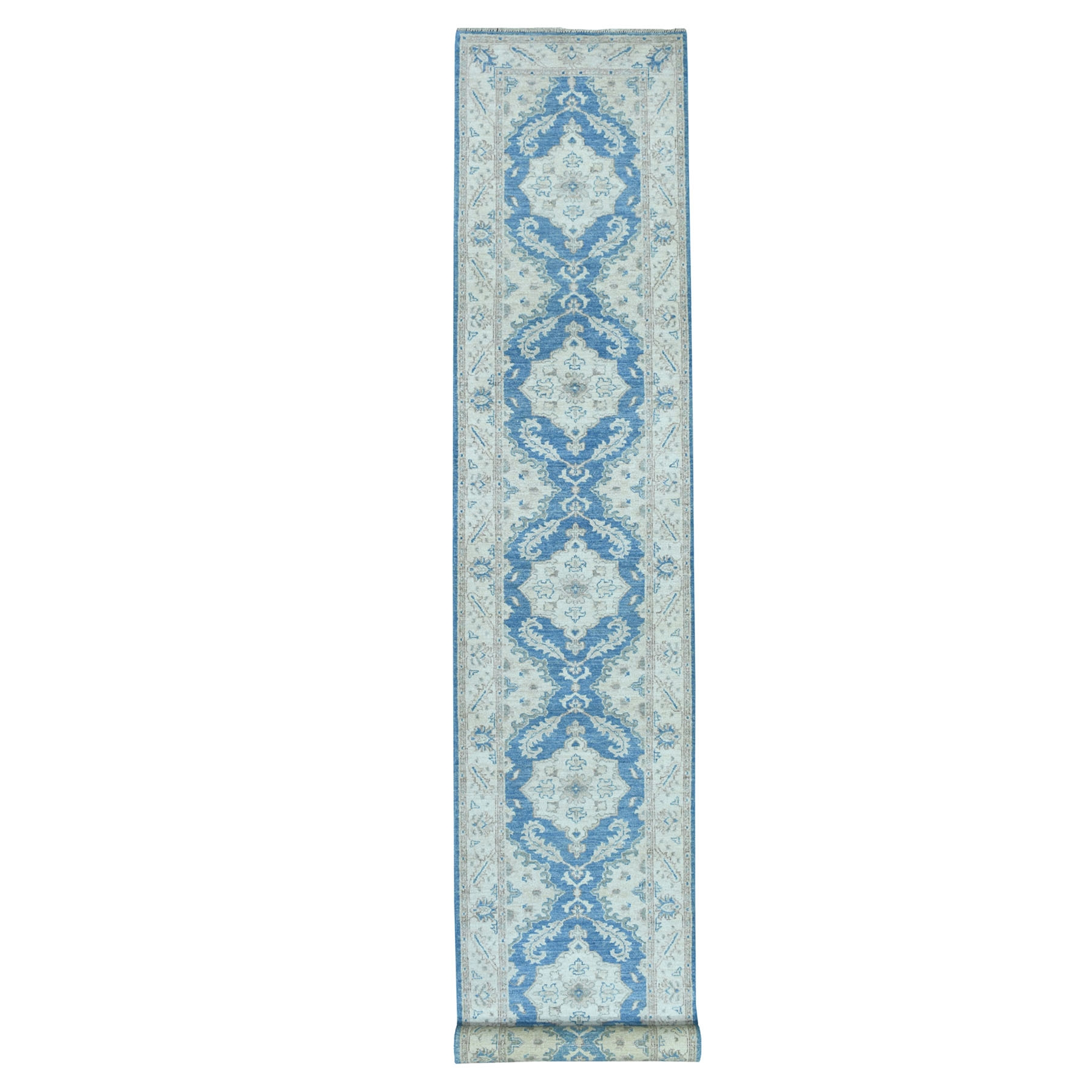 Agra And Turkish Collection Hand Knotted Blue Rug No: 01103058