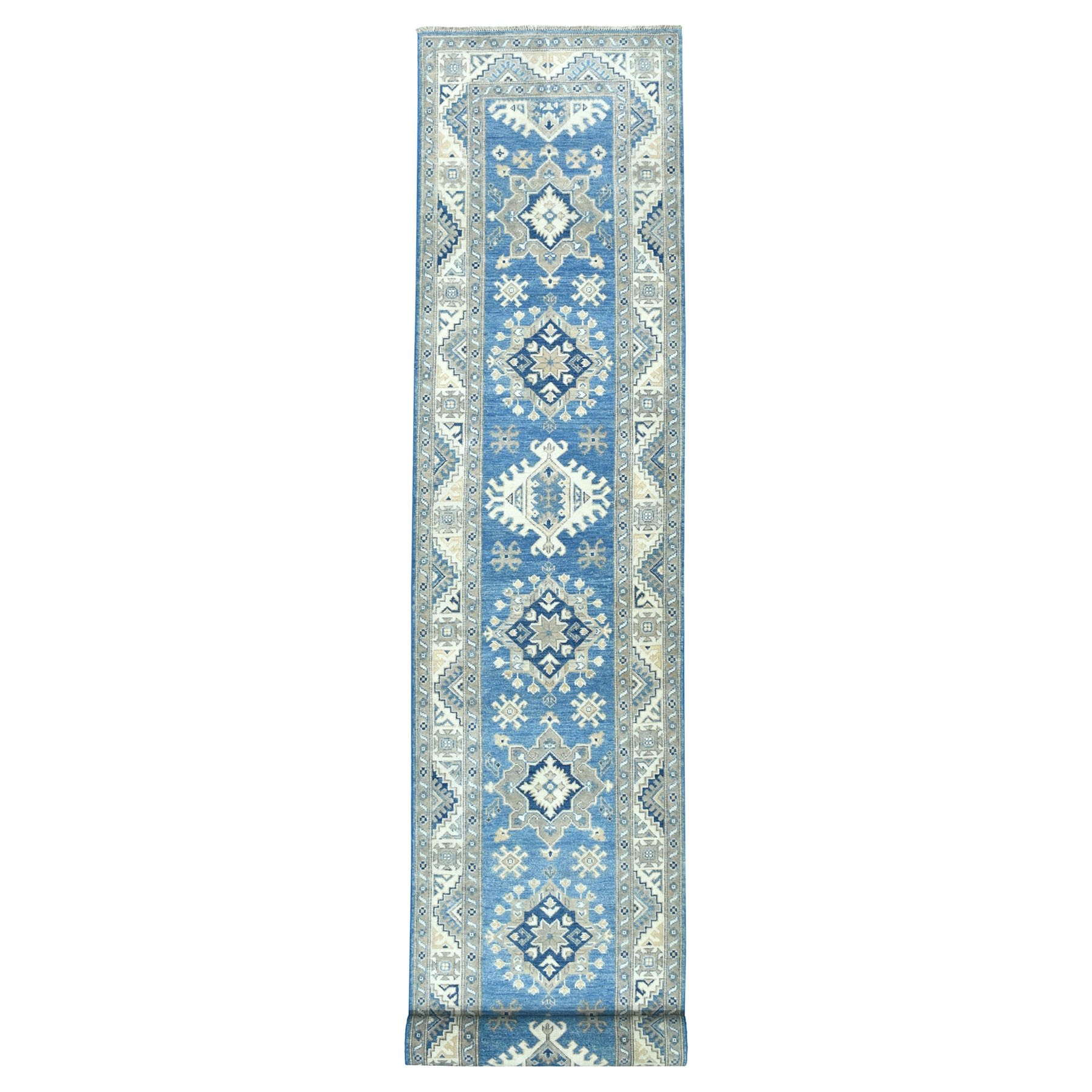 Caucasian Collection Hand Knotted Blue Rug No: 01103170