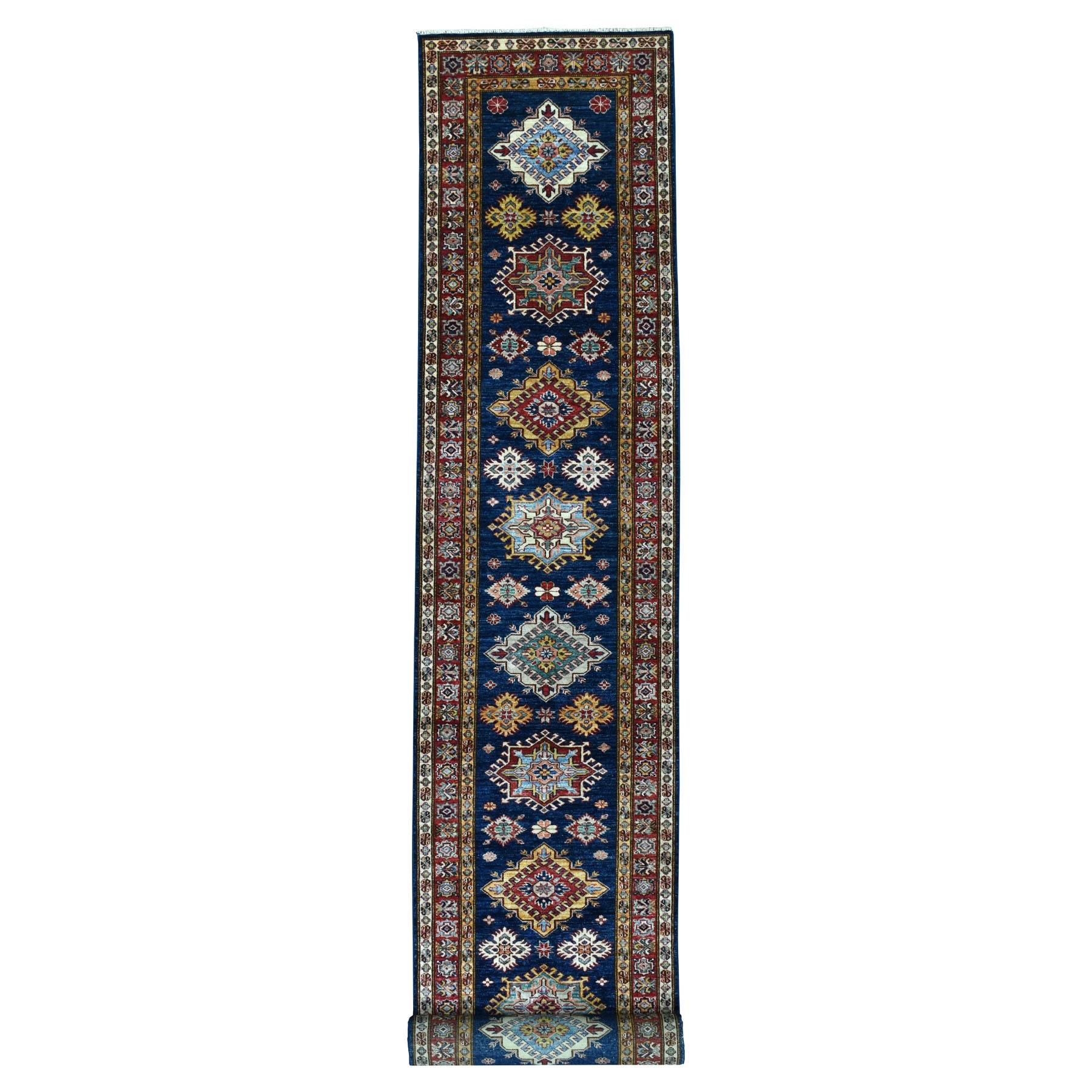 Caucasian Collection Hand Knotted Blue Rug No: 01103494