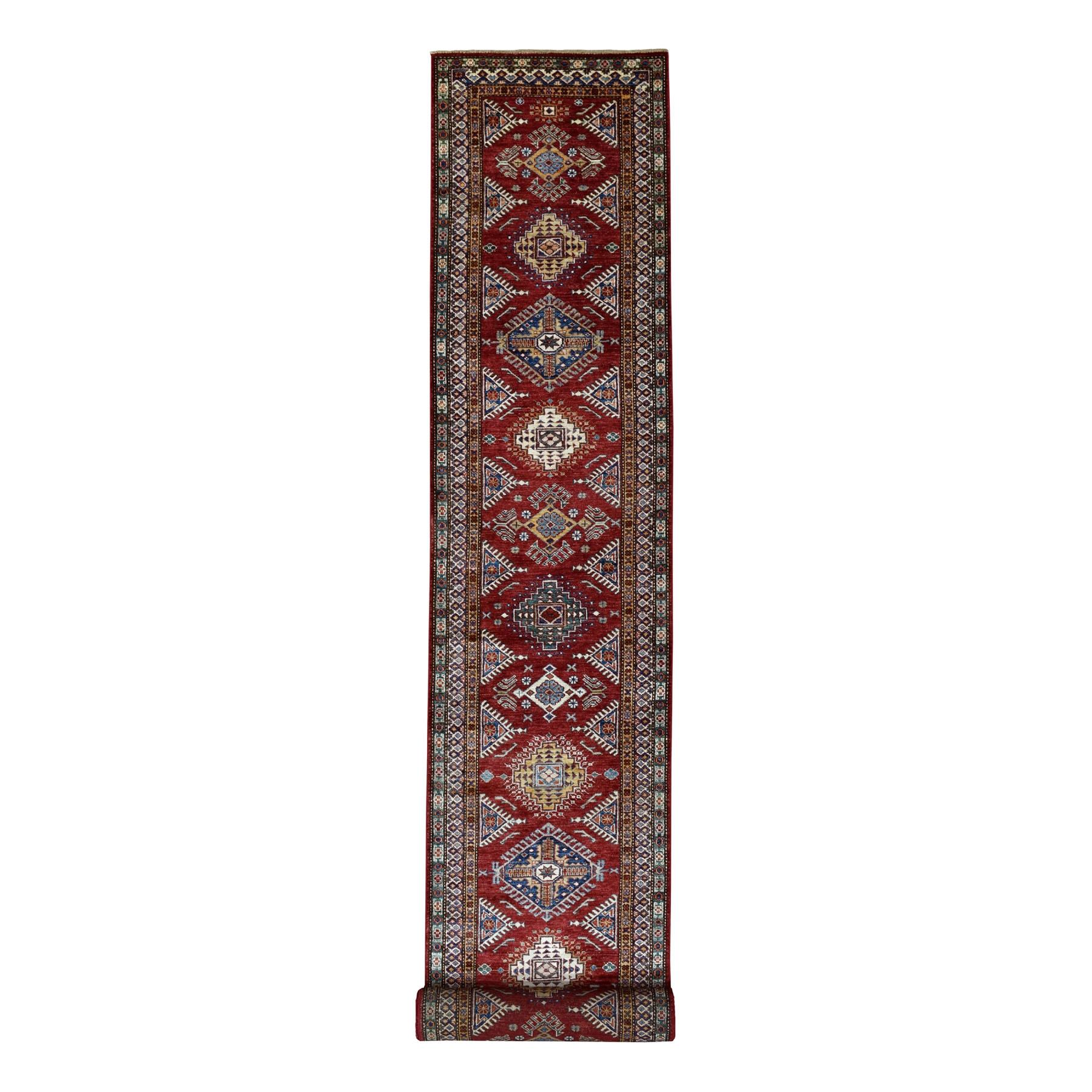 Caucasian Collection Hand Knotted Red Rug No: 01103496