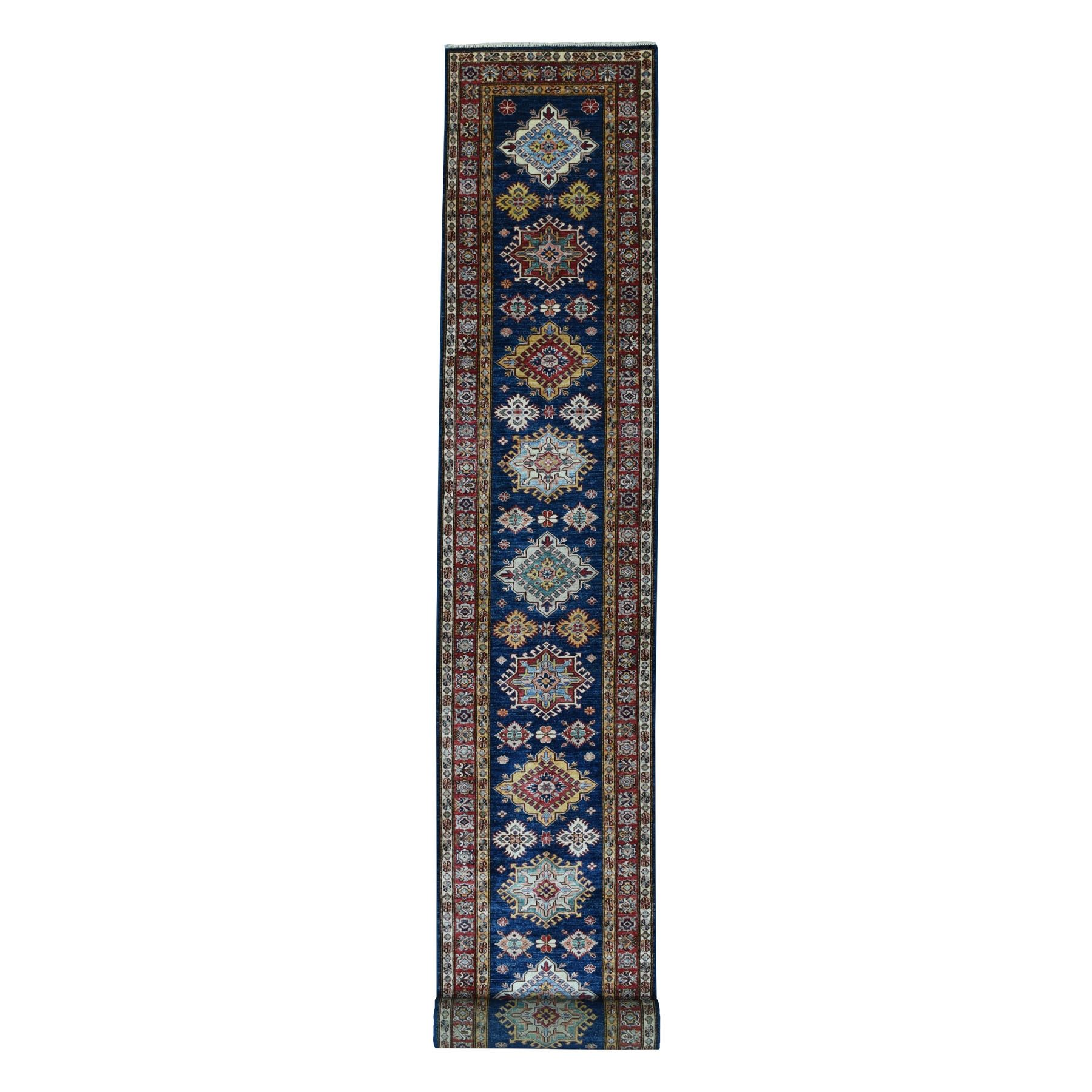 Caucasian Collection Hand Knotted Blue Rug No: 01103498