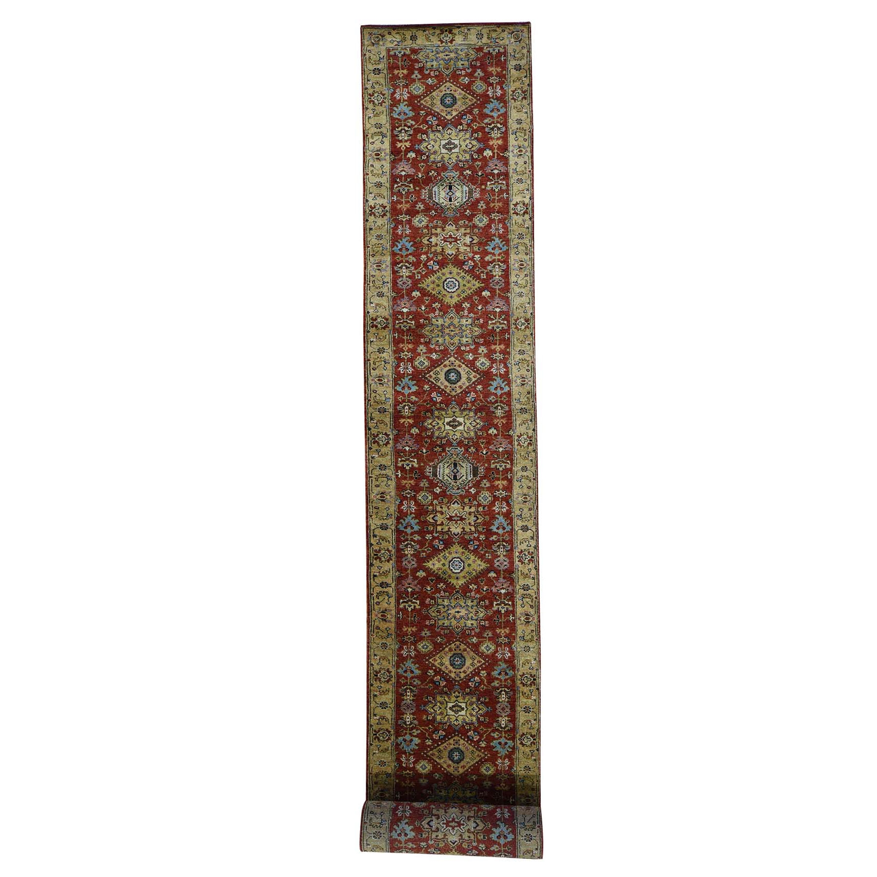 Serapi Heriz and Bakhshayesh Collection Hand Knotted Red Rug No: 0193964