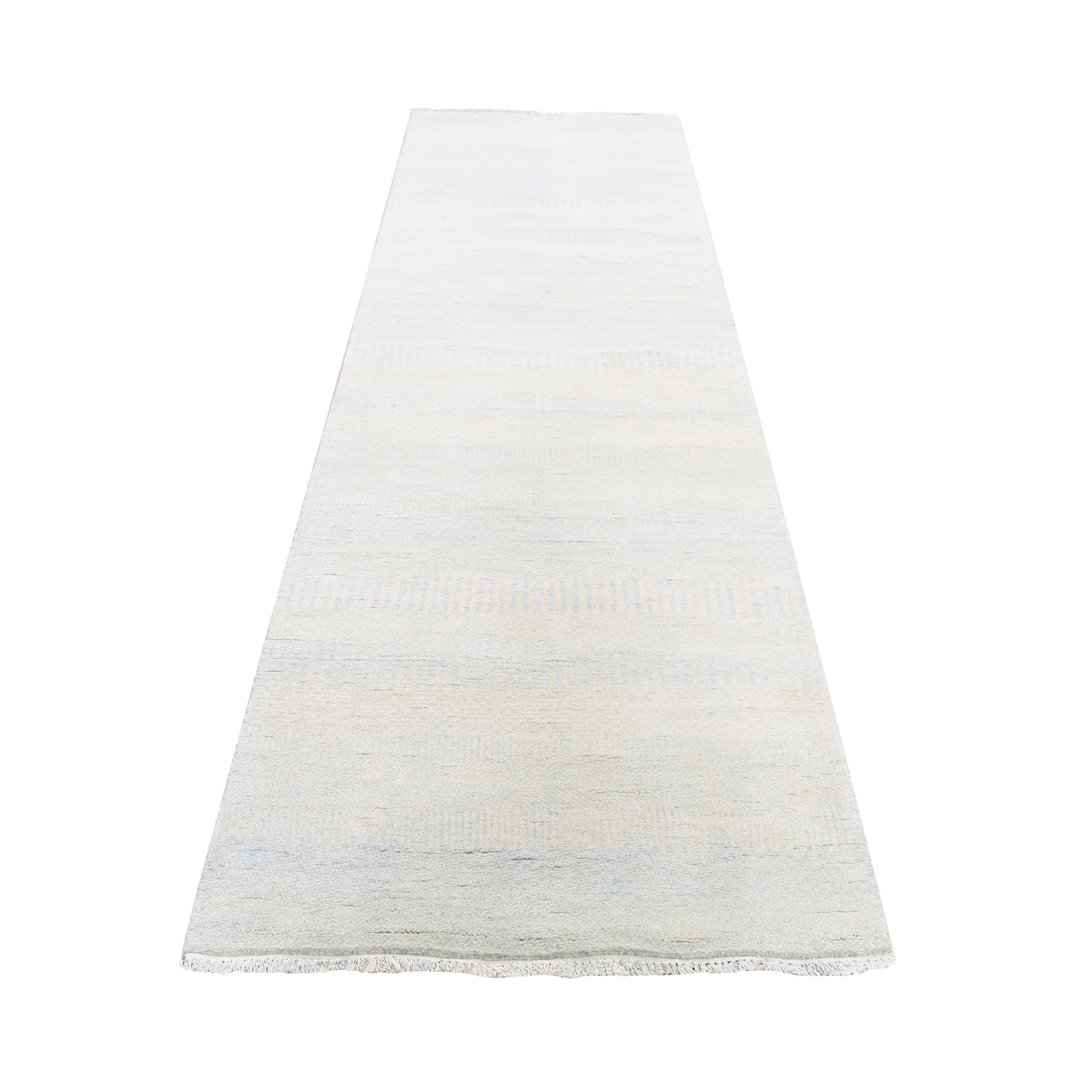 Mid Century Modern Collection Hand Knotted Ivory Rug No: 0193992