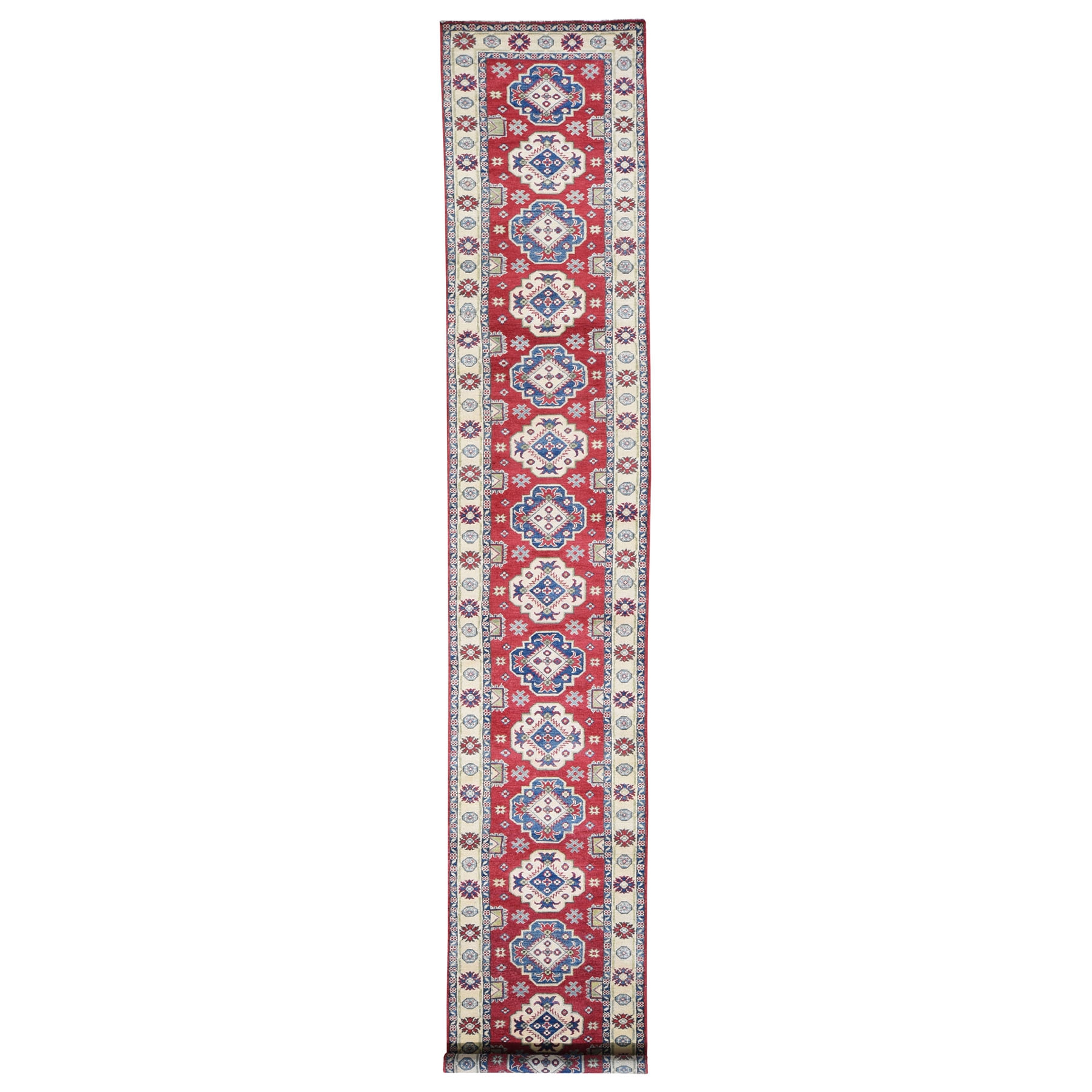 Caucasian Collection Hand Knotted Red Rug No: 0194008