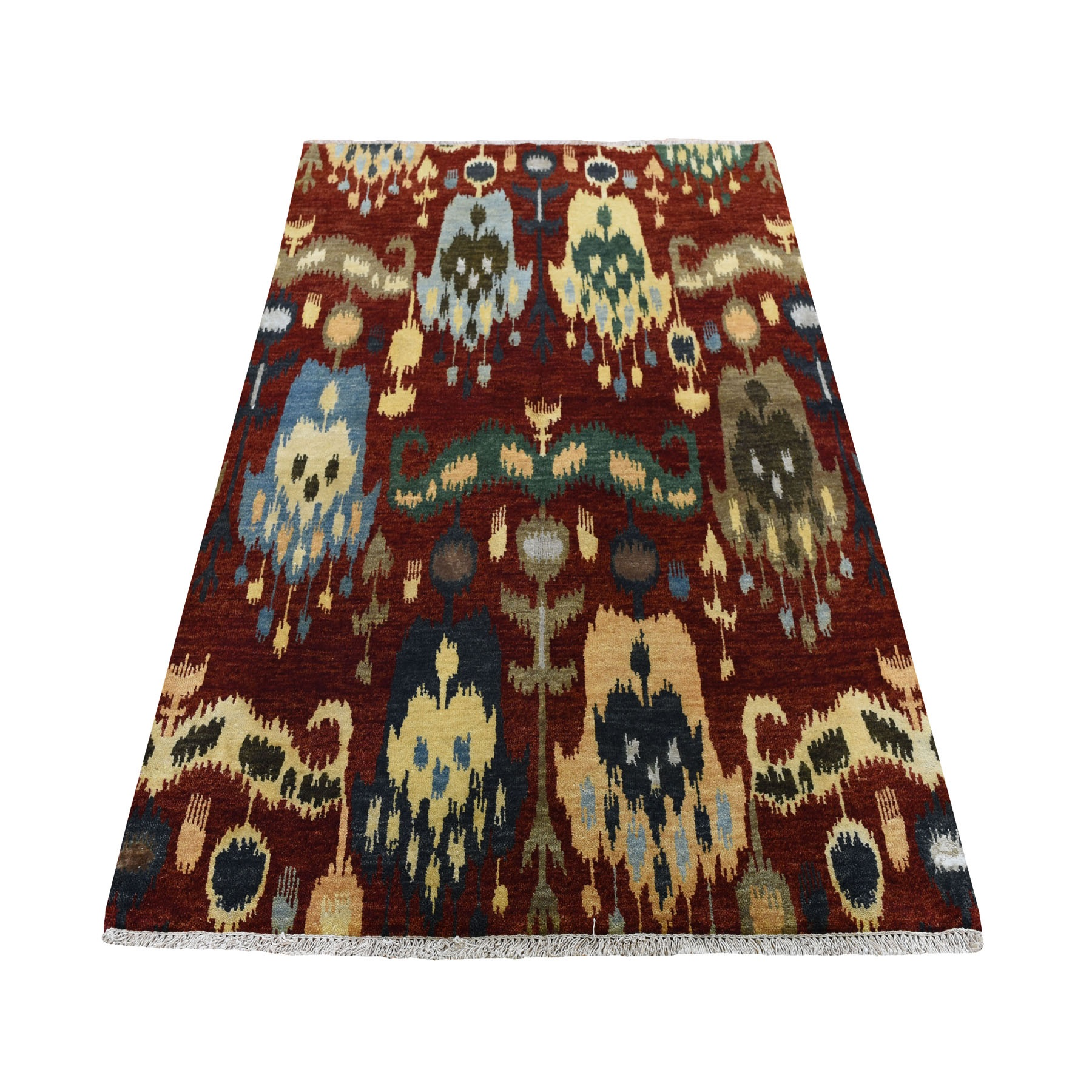 Eclectic and Bohemian Collection Hand Knotted Red Rug No: 0194080