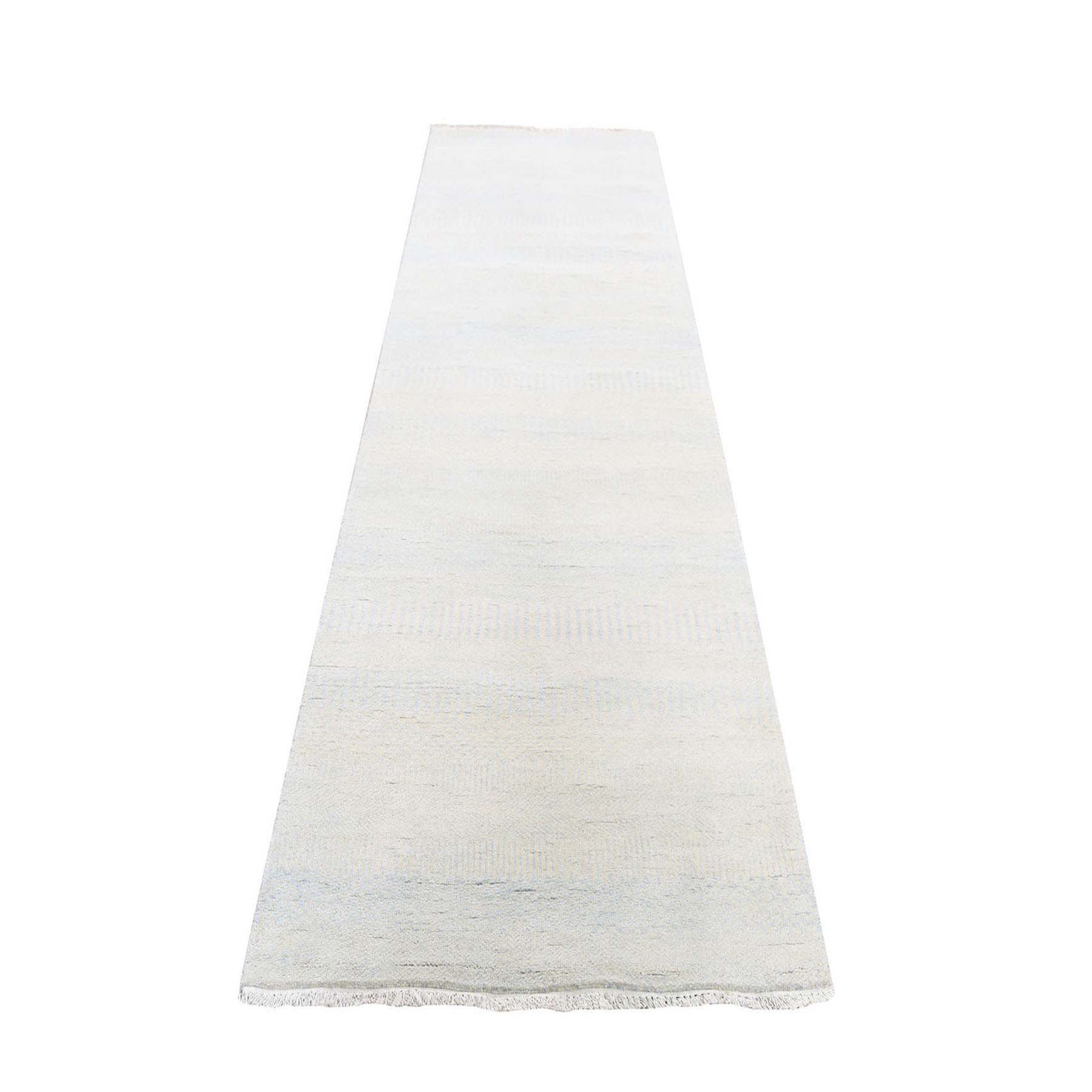 Mid Century Modern Collection Hand Knotted Ivory Rug No: 0193994